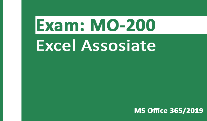 MO-200 Excel Associate-Office 365 & Office 2019 - German version