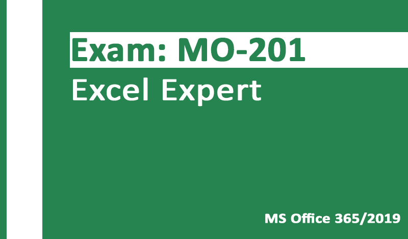 MO-201 Excel Expert-Office 365 & Office 2019 - German version