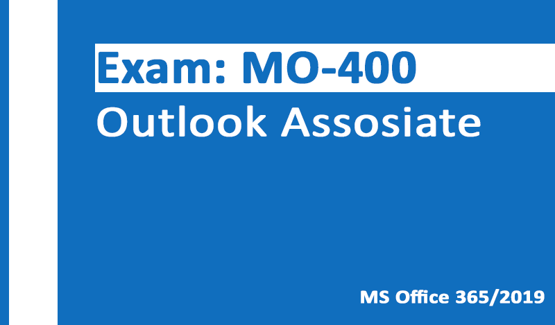 MO-400 Outlook Associate-Office 365 & Office 2019 - German version