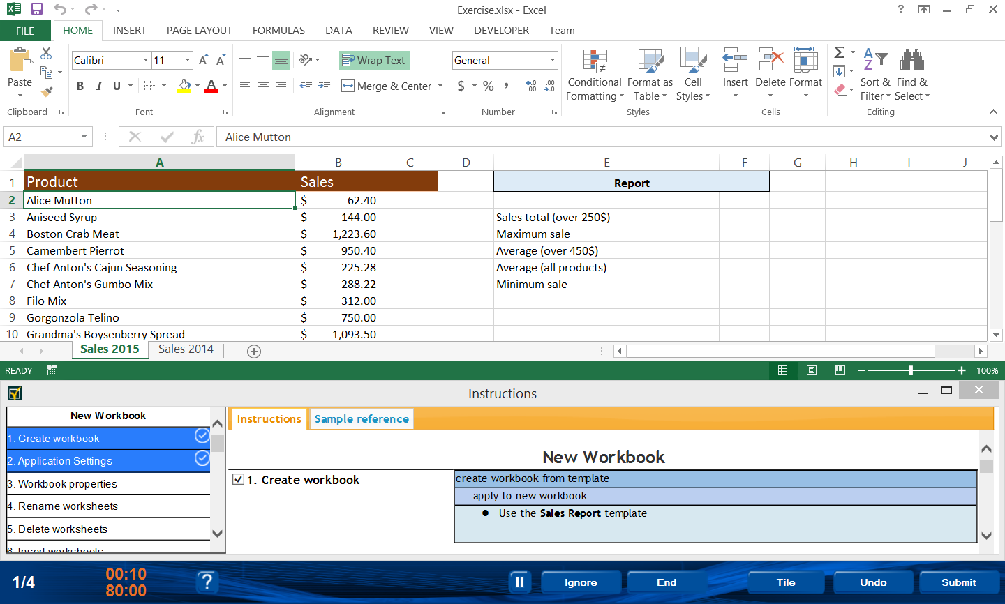 77-427 Microsoft Office Specialist Excel Expert 2013 Part 1-German version
