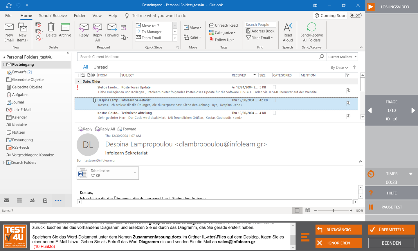 MO-400 Outlook Associate-Office 365 & Office 2019 - English version
