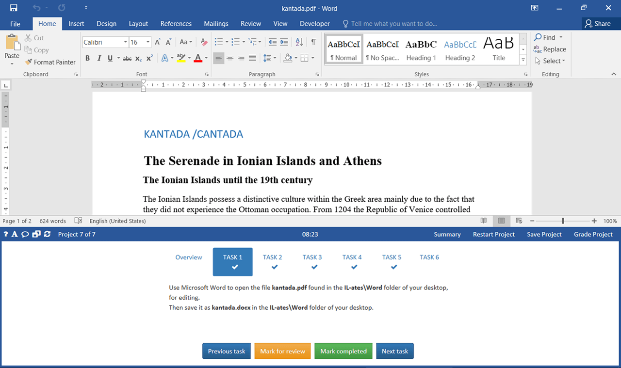 MO-101 Word Expert (Office 365 & Office 2019) German version