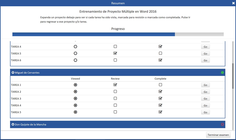 77-725 Microsoft Office Specialist Word Core 2016-Versión en español