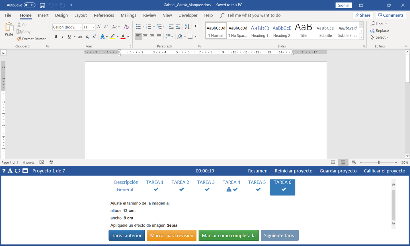 MO-100 Word Associate-Office 365 & Office 2019 - Spanish version