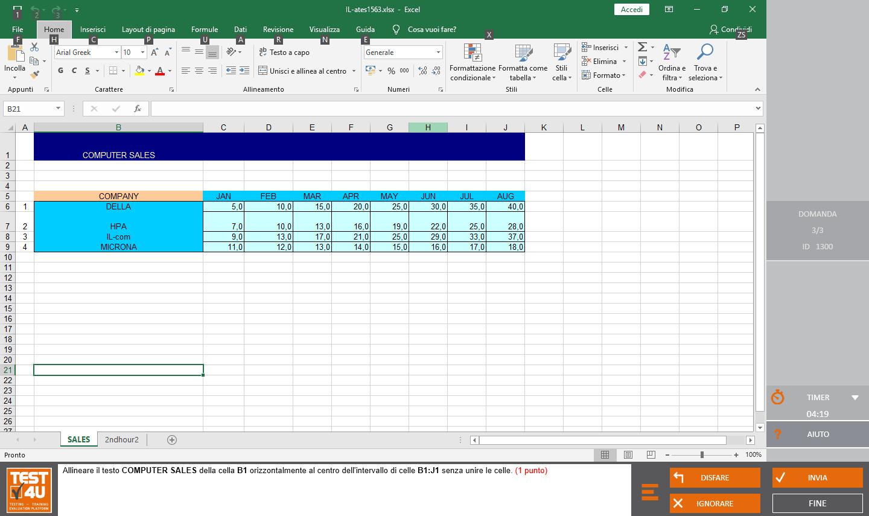 ECDL Base Spreadsheets-Italian version
